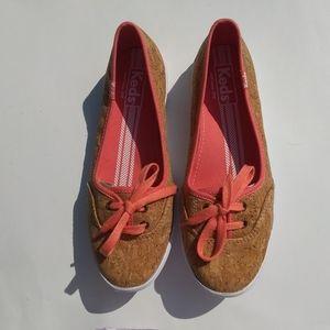 Keds Womens Sz 6.5 Shoes Cork Flat Ballet Shoes